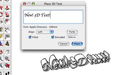SketchUp Pro 6.0 : 3D Text