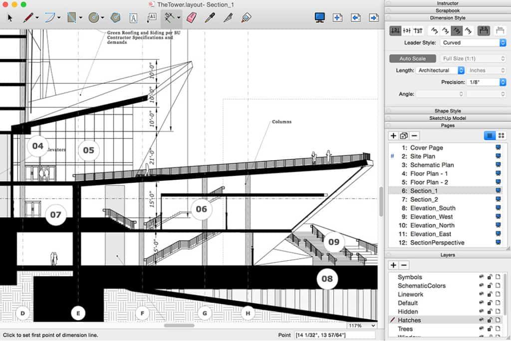 SketchUp Pro 2016 : Layout - erweiterte Layer-Verwaltung