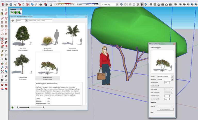 SketchUp Pro mit Plants Kit